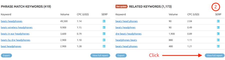 Keyword Overview image 2