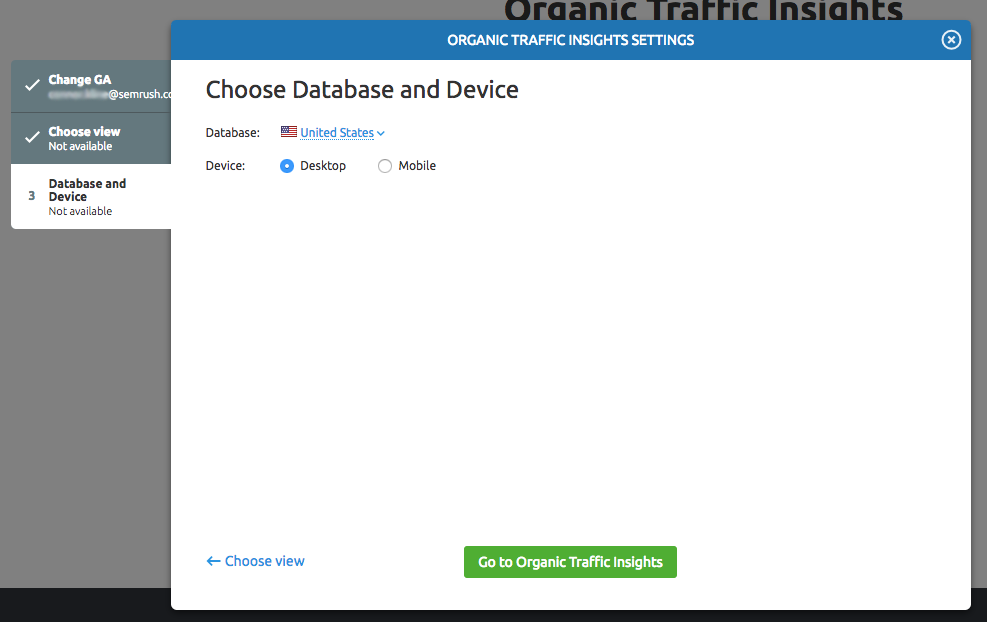 Configuring Organic Traffic Insights image 5