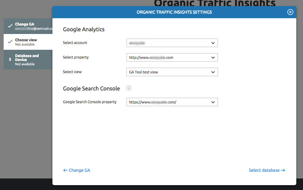 Configuring Organic Traffic Insights image 4