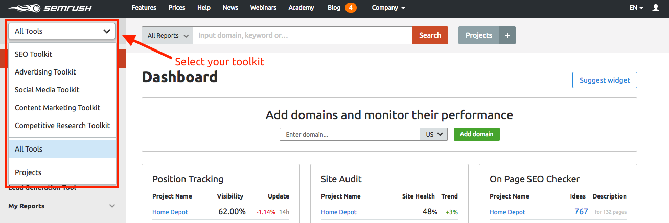 semrush-toolkits
