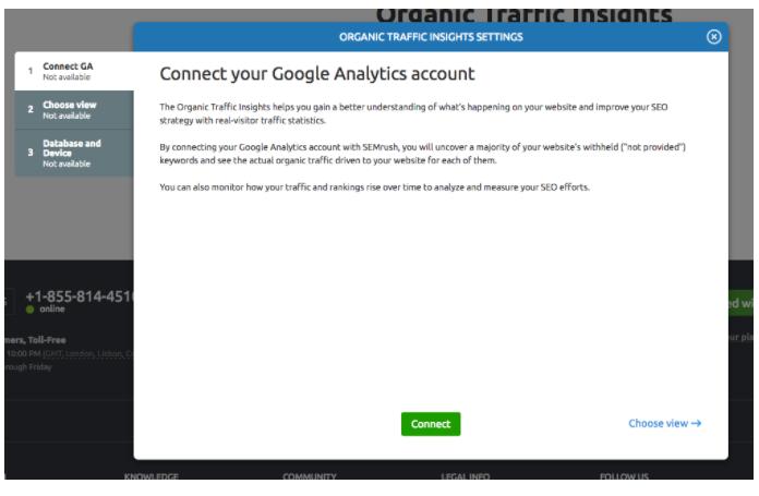 Connecting My Google Accounts to SEMrush image 4