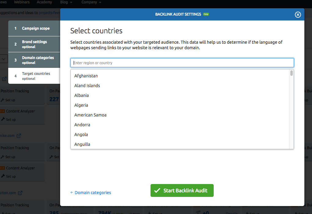 Configuring Backlink Audit Tool image 4