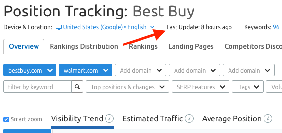 How often does Position Tracking update its data? image 1