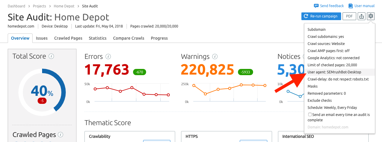 user-agent-semrush-site-audit