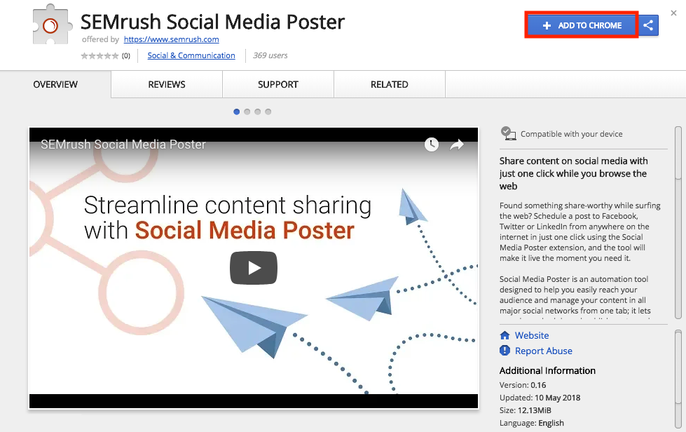 How to use Social Media Poster Chrome extension manual