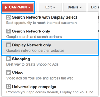 Google AdWords Display Network Only