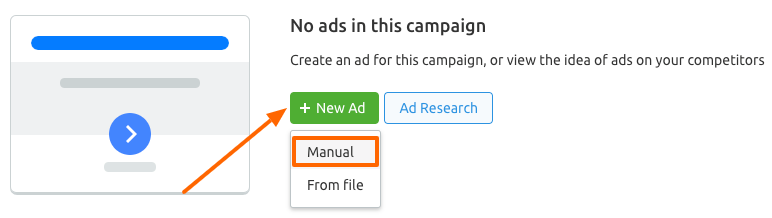 Creating New Display Ad Manually