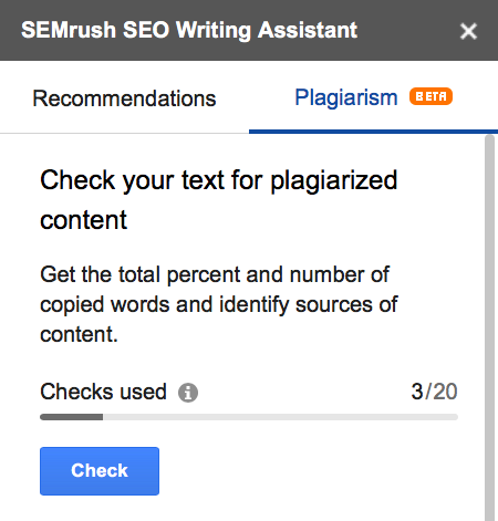 Plagiarism checker for google docs