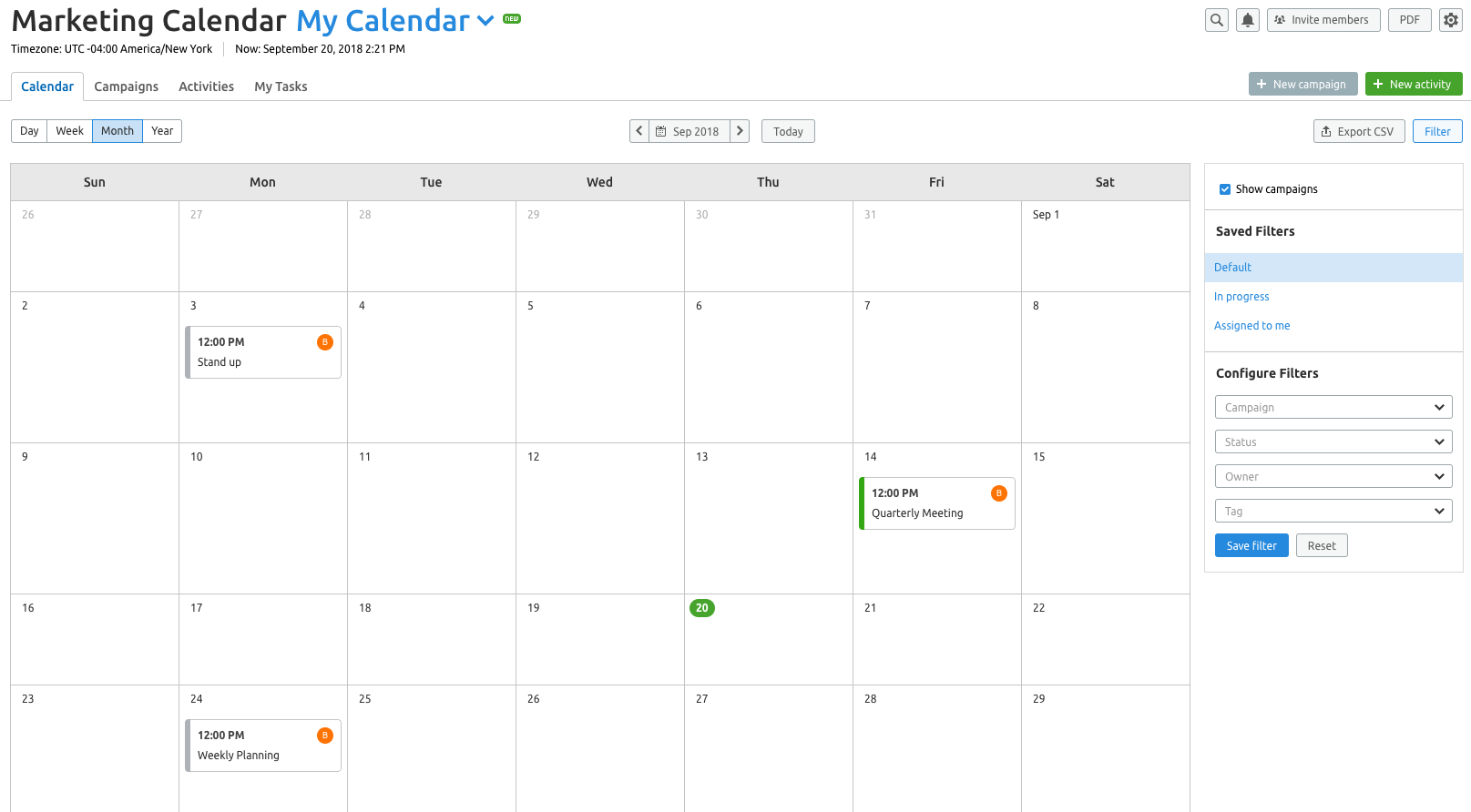 Marketing Calendar image 1