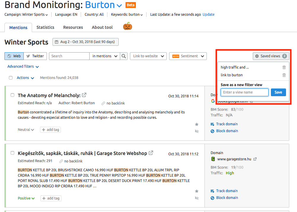 Brand Monitoring Mentions Feed image 3