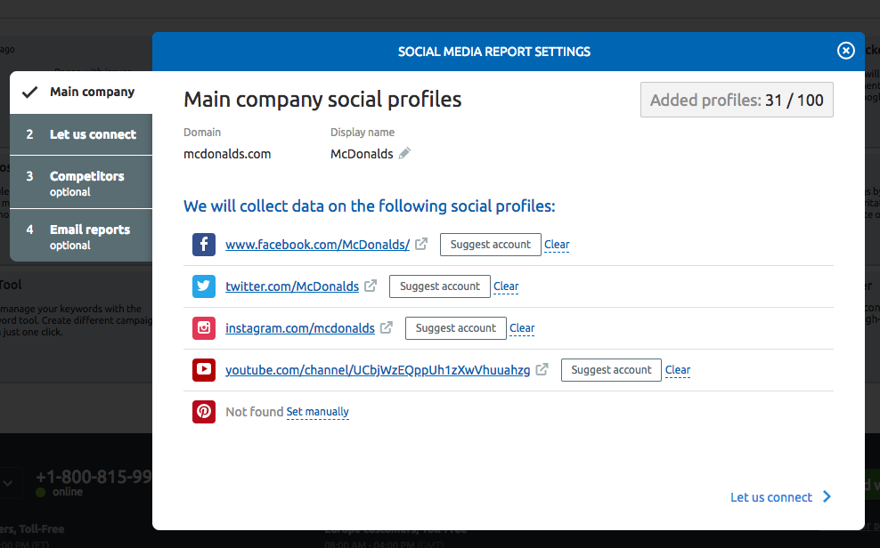Configuring the Social Media Tracker image 1