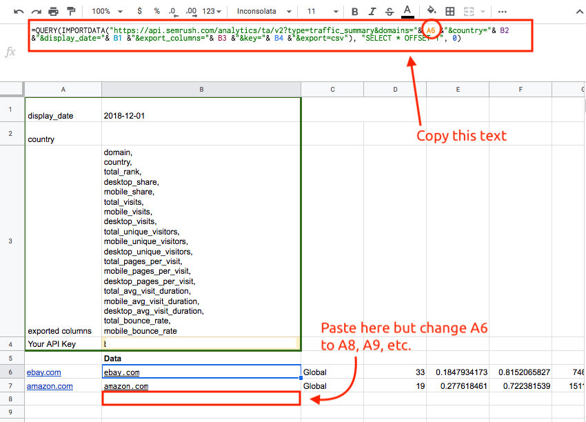 How to Export Traffic Analytics data to Google Sheets using