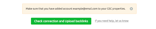 Connecting Backlink Audit to Google Accounts image 10