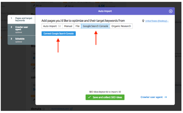 Connecting On Page SEO Checker with Google Accounts image 1