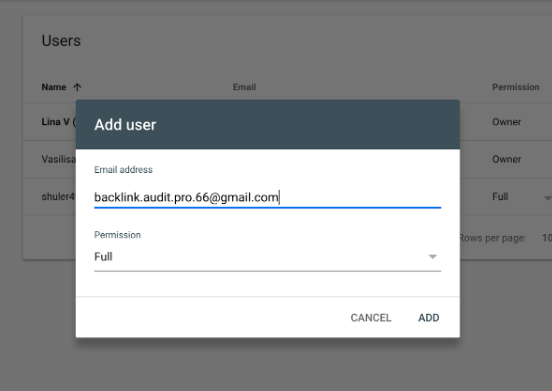 Connecting Backlink Audit to Google Accounts image 6