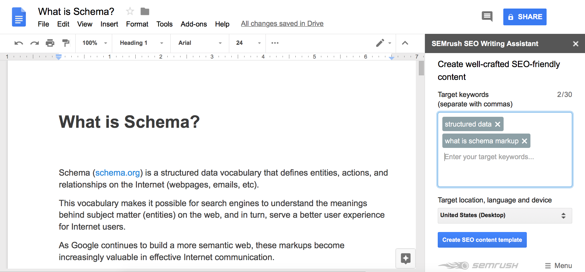 SEO Writing Assistant image 3