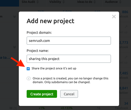 How do I share Projects? image 1