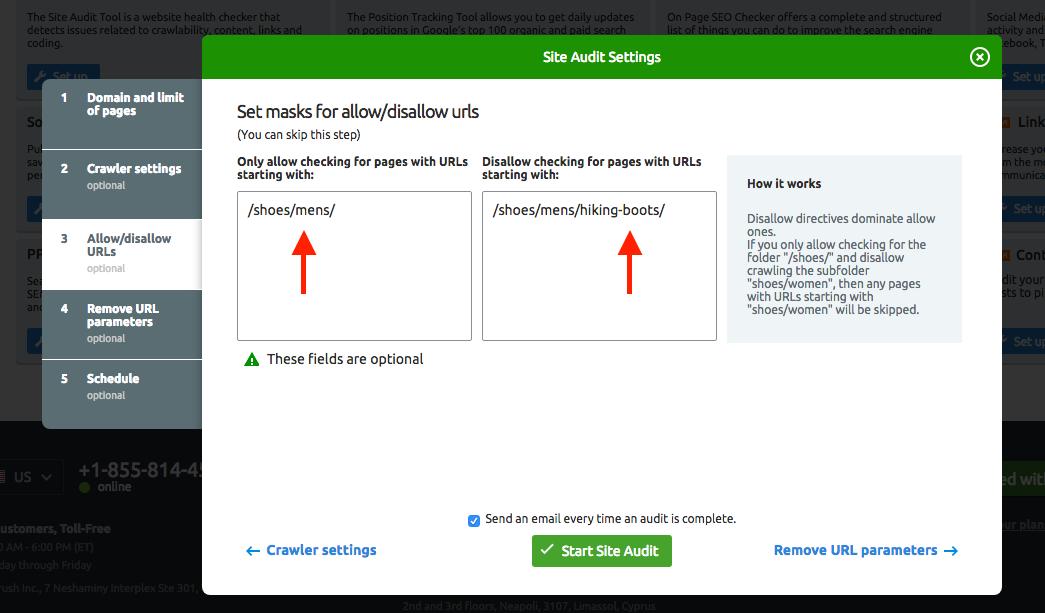 Configurar Auditoría del Sitio image 5