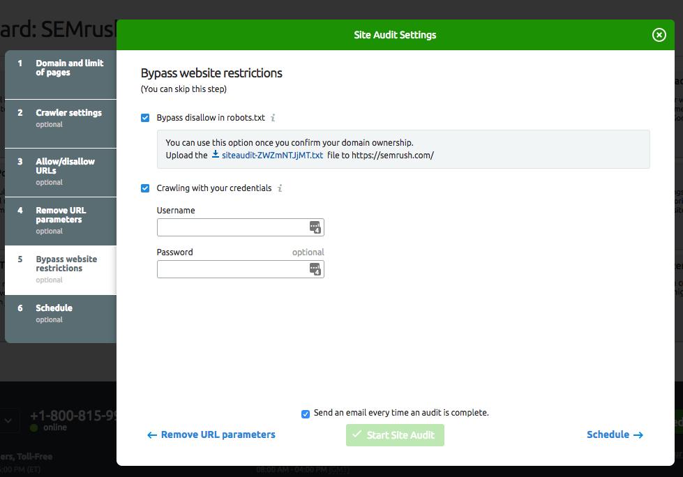 Configurar Auditoría del Sitio image 8