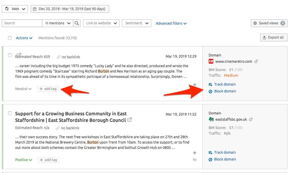 Fil de mentions dans Brand Monitoring image 6