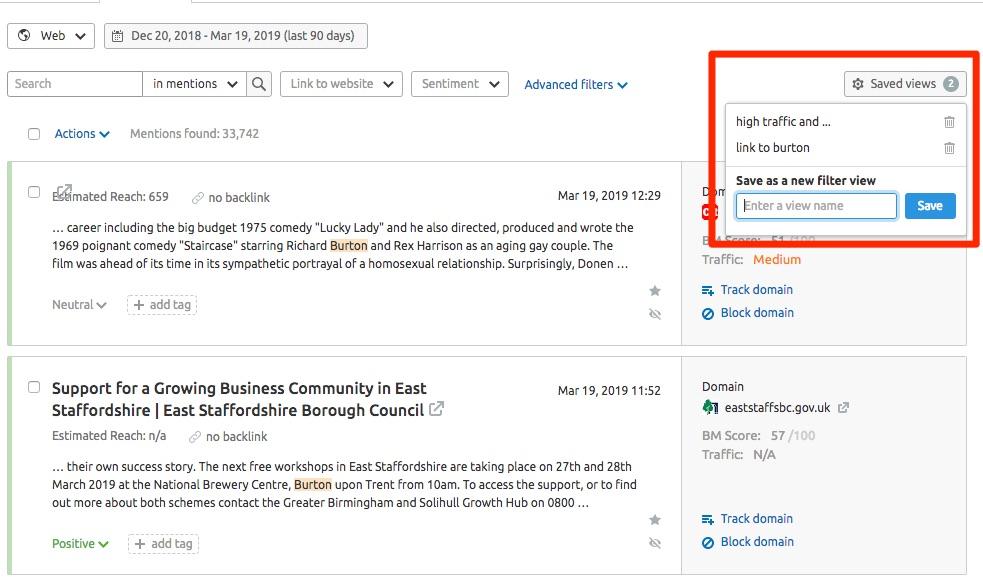 Fil de mentions dans Brand Monitoring image 5
