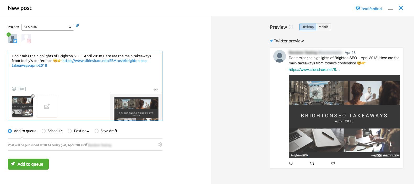 Social Media Poster Chromeの拡張機能 image 9