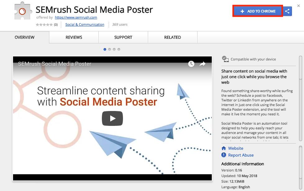 Social Media Poster Chromeの拡張機能 image 1