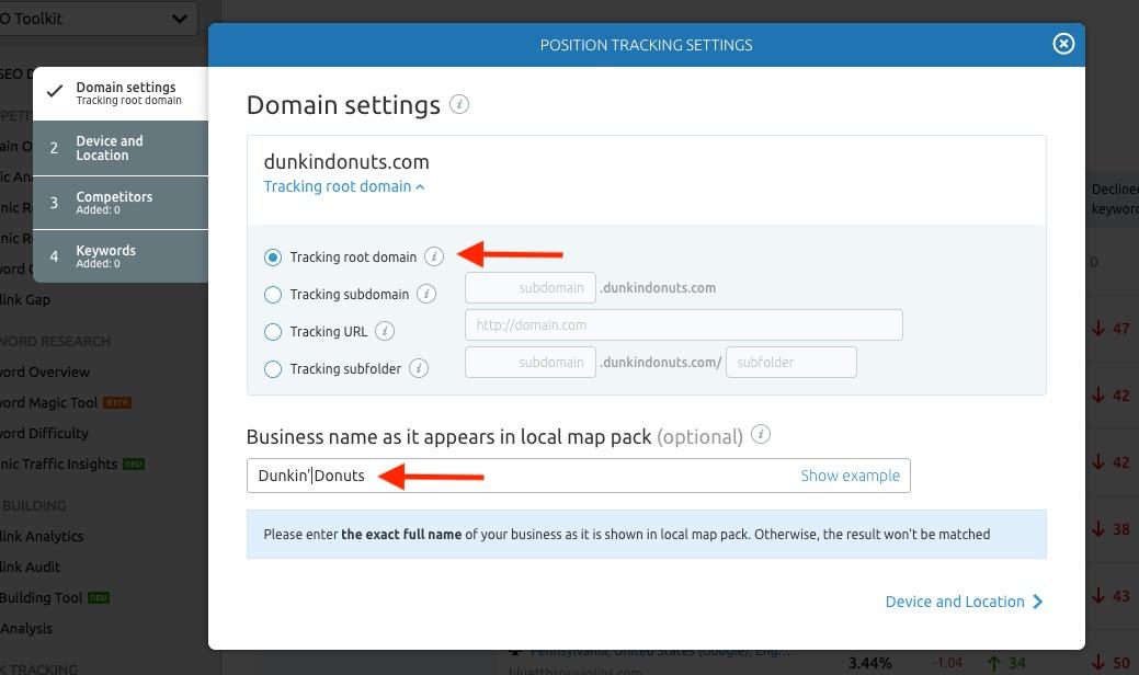 Configurando Position Tracking image 1