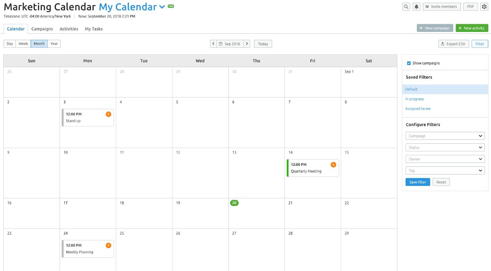 マーケティングカレンダー image 1