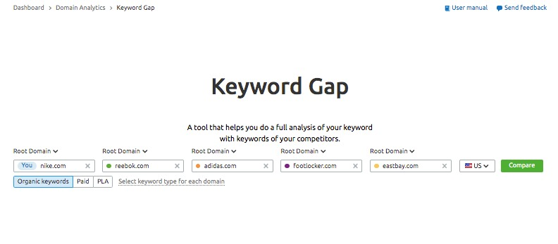 Keyword Gap image 1