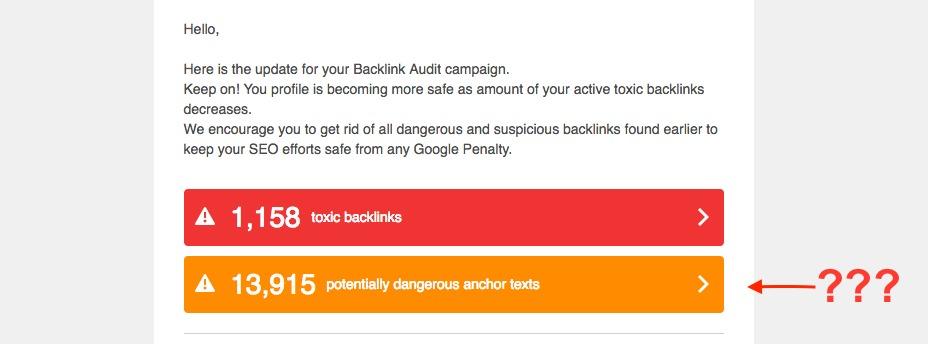 Sobre los textos de anclaje en Backlink Audit image 1