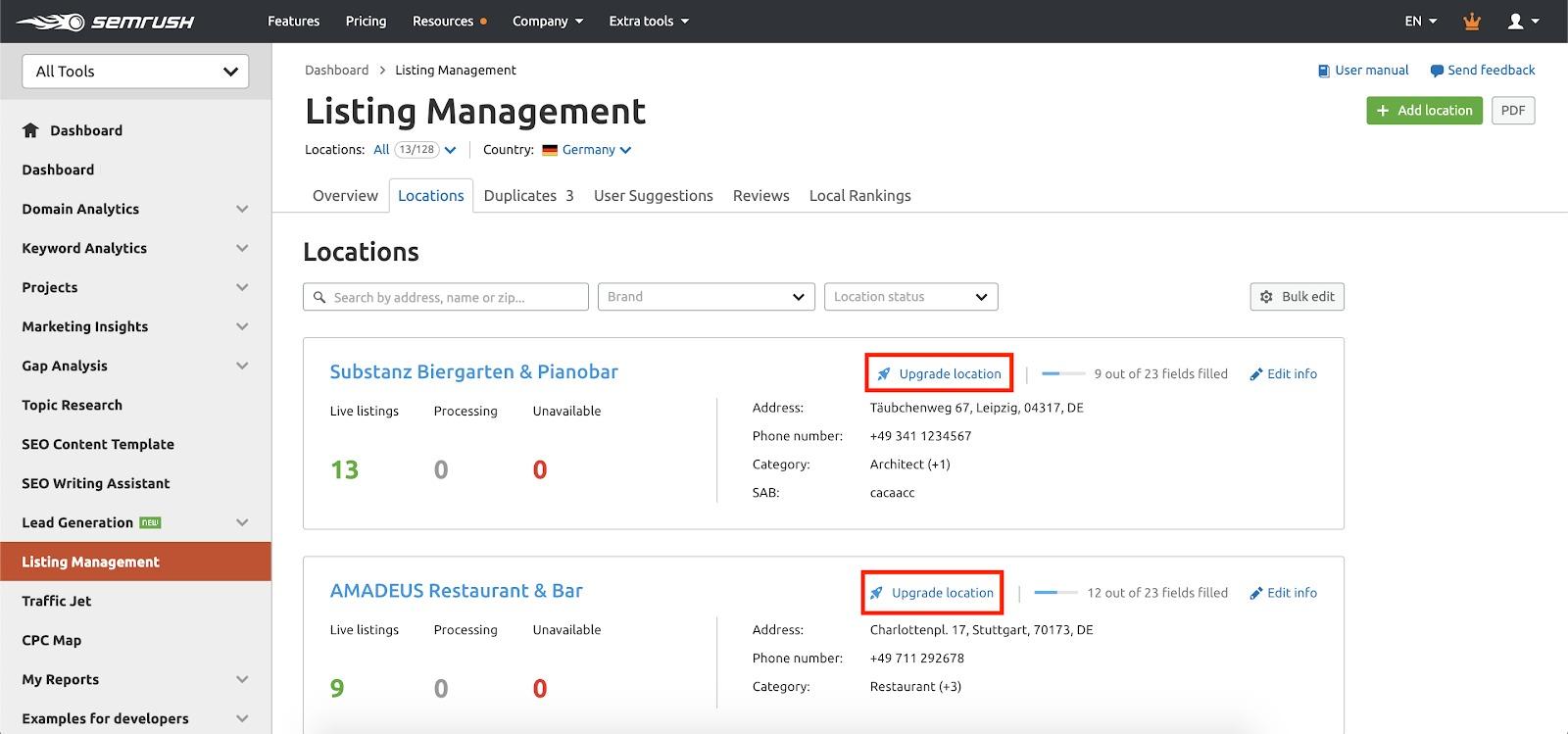 Listing Management Premium Location image 1