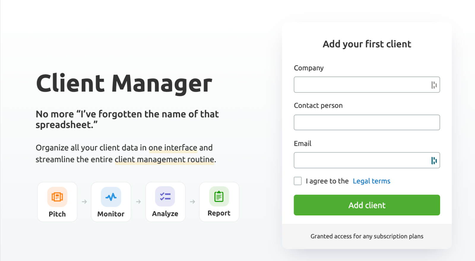 Getting Started With Client Manager